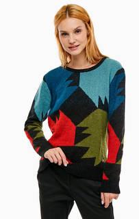 Разноцветный трикотажный свитер Trussardi Jeans
