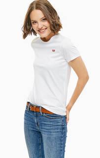 Хлопковая футболка белого цвета Levis