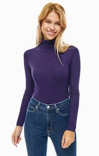 Водолазка фиолетового цвета с длинными рукавами Calvin Klein