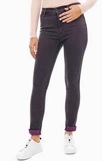 Фиолетовые джинсы с необработанным краем High Rise Skinny Levis