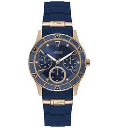 Часы с силиконовым ремешком синего цвета Guess