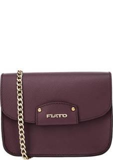 Бордовая кожаная сумка Fiato