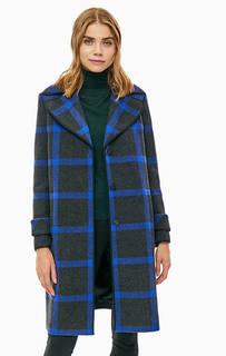 Пальто в клетку с высоким содержание шерсти Armani Exchange