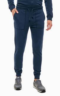 Синие хлопковые брюки джоггеры Napapijri