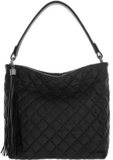 Черная стеганая сумка из натуральной кожи Fiato