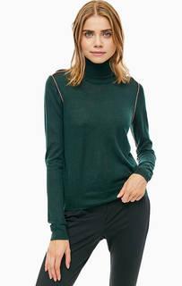 Зеленая водолазка с высоким содержанием шерсти Armani Exchange