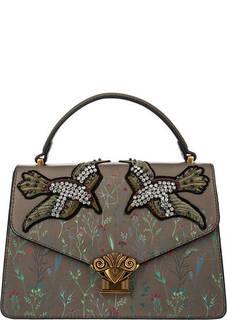 Маленькая сумка цвета хаки с цветочным принтом Tosca Blu