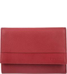 Кожаный кошелек красного цвета Baldinini
