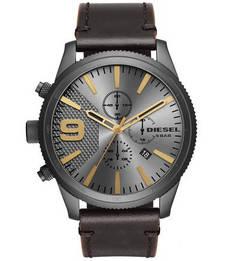 Часы с кожаным браслетом и влагозащитой Diesel