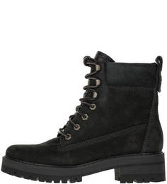 Черные ботинки из нубука Timberland