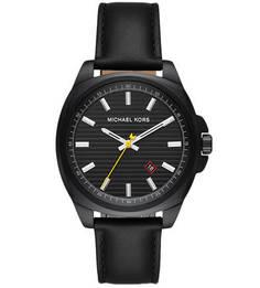 Часы с кожаным браслетом и подсветкой Michael Kors