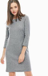 Серое платье с высоким содержанием шерсти Marc Opolo