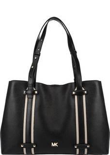 Вместительная кожаная сумка с длинными ручками Griffin Michael Kors