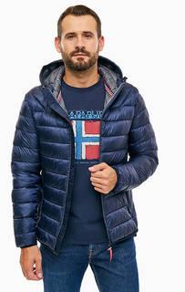 Демисезонная синяя куртка с капюшоном Napapijri