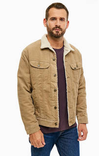 Вельветовая куртка бежевого цвета Lee