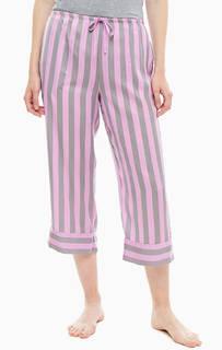 Укороченные домашние брюки в полоску Dkny