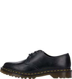 Кожаные ботинки синего цвета Dr Martens