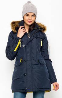 Удлиненная синяя куртка с капюшоном Alpha Industries
