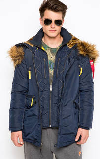 Куртка с контрастной отделкой Alpha Industries