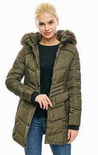 Удлиненная куртка цвета хаки с капюшоном Superdry