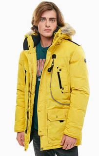 Удлиненная куртка желтого цвета TOM Tailor