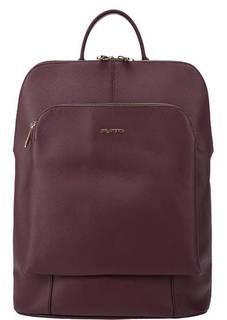 Бордовая сумка-рюкзак из сафьяновой кожи Fiato