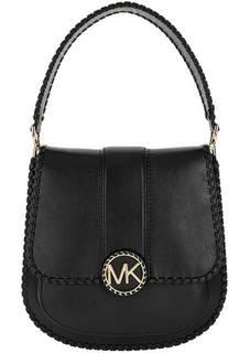 Маленькая кожаная сумка с откидным клапаном Lillie Michael Kors