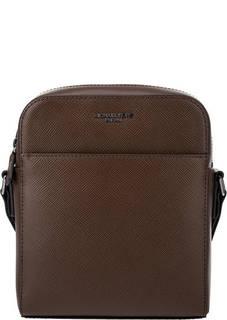 Коричневая кожаная сумка-планшет Harrison Michael Kors