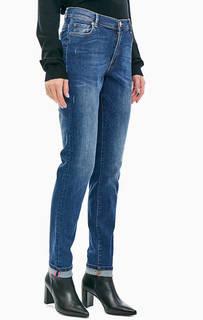 Джинсы с потертостями и заломами 105 Trussardi Jeans