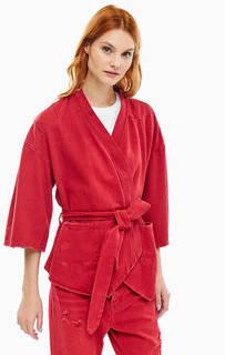 Красная куртка с поясом One Teaspoon