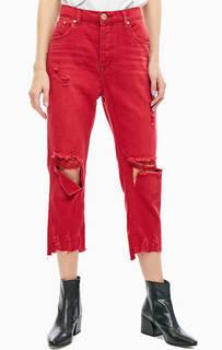 Рваные укороченные джинсы Hooligans One Teaspoon