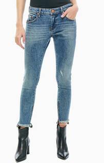 Синие джинсы с молниями на штанинах Freebird ll One Teaspoon