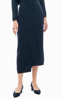 Полушерстяная юбка асимметричного кроя Stefanel