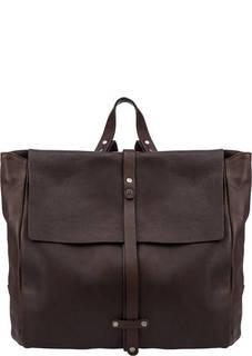 Коричневый рюкзак из зерненой кожи Bruno Rossi