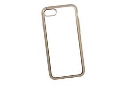 Аксессуар Чехол Liberty Project Silicone для APPLE iPhone 8 / 7 TPU Transparent Gold-Chrome frame 0L-00029645
