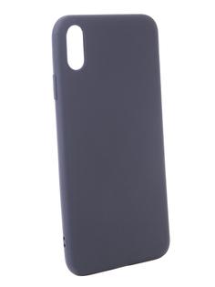 Аксессуар Чехол Zibelino Soft Matte для APPLE iPhone XS Max Blue ZSM-APL-XSMAX-BLU