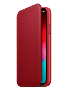 Аксессуар Чехол APPLE iPhone XS Leather Folio Product Red MRWX2ZM/A