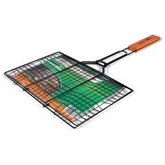 Решетка для гриля с деревянной ручкой green glade 719с