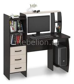 Стол компьютерный Школьник-Класс (М) венге цаво/дуб молочный Мебель Трия