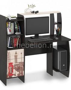 Стол компьютерный Школьник-Класс (М) венге цаво/дуб молочный с рисунком Мебель Трия