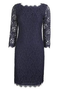 Кружевное платье-футляр Diane Von Furstenberg