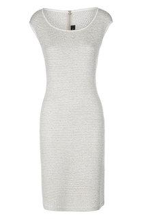 Облегающее платье без рукавов с металлизированной отделкой St. John