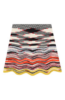 Шерстяная юбка фактурной вязки Missoni