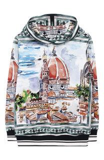 Хлопковое худи с принтом Dolce & Gabbana