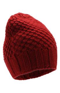 Кашемировая шапка Gray Glace фактурной вязки Loro Piana