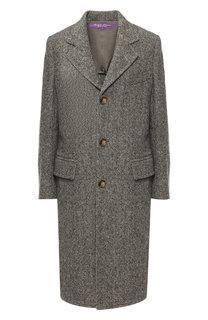 Шерстяное пальто с отложным воротником Ralph Lauren