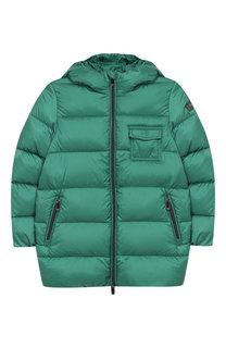 Пуховая куртка на молнии с капюшоном Il Gufo