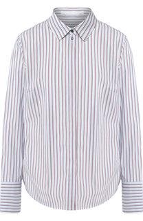 Хлопковая блуза в полоску BOSS