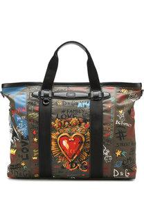 Сумка-шоппер Mediterraneo с принтом Dolce & Gabbana
