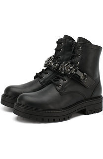 Кожаные ботинки на шнуровке с внутренней меховой отделкой Missouri